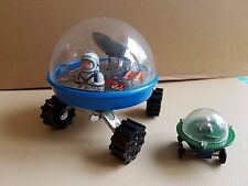 Vintage Yone Strolling Space Station space toy, made in Japan-Working