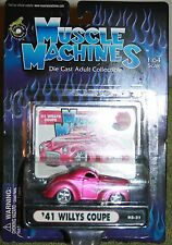 MUSCLE MACHINES 41 WILLYS COUPE  FROM THE 2002 COLLECTION ADULT COLLECTIBLE