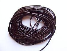 1mt di cordino  filo in Pelle cuoio 3mm colore marrone per bracciale,collana