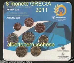 2011 8 monete 3,88 EURO Grecia greece grece Griechenland hellas Греция 希腊