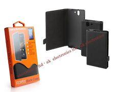 UK Roxfit Book Case Flip Black Protective Case Cover for Sony Xperia Z SMA5127B