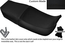 BLACK STITCH  CUSTOM FITS HONDA NSR 400 R 85-87 DUAL LEATHER SEAT COVER