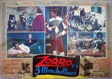 fotobusta 1963 ZORRO E I TRE MOSCHETTIERI-Gordon Scott-Giacomo Rossi Stuart- 5