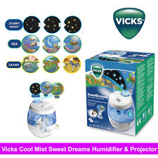 Vicks VUL575 Sweet Dreams Cool Mist Humidifier with Image Projector 3.8L/24H