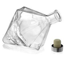 Large 8 Inch Luxury Lady Diamond Glass Bottle Decanter 500ml Perfume Mantelpiece