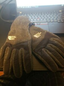 The North Face gloves mens Large EUC grey and black