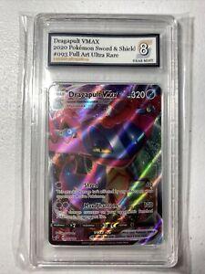 2020 Dragapult Vmax Pokémon #093 Sword & Shield Grade 8 NM Full Art SEE VIDEO