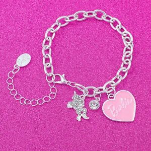 Barbie® Pink Heart & Unicorn Charm Bracelet
