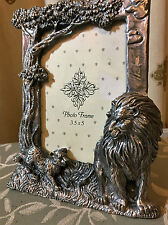 LION 7 CUB - PHOTO FRAME PEWTER - 15.5cm x 13.cm  BRAND NEW.