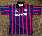 Swansea City FC Red & Black Gulf Oil Football Shirt 1996