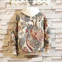 2019 Mens Japanese Embroidery Jacket Coat Hip Hop Streetwear Bomber Jacket Chic