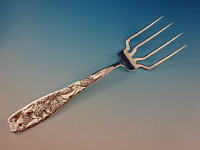 "Berry by Whiting Sterling Silver BBQ Serving Fork 7 1/2"" Custom Made"