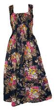 Blk 100% Cotton Long Boho Maxi Dress Party Evening Size 14 16 18 20 22 24 April