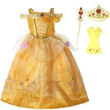 UK  Girls  Fancy Dress Up Beauty and the Beast Kids Halloween Costume