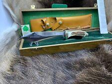 1990 vintage Puma rudemann Coltello con manico cervo & scatola di presentazione TAG Nuovo di zecca