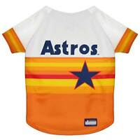 HOUSTON ASTROS Pets First MLB Vintage Rainbow Throwback Pet Jersey Sizes XS-XXL