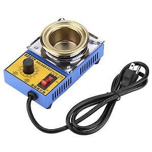 110/220V 150W Lead-free Solder Pot Soldering Desoldering Bath 50mm 200-450℃ ZY