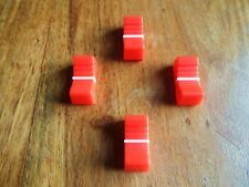 X 4 faders bouton table de mixage ROUGE / RED  X 4 NEUF/ FIXATION 8 mm