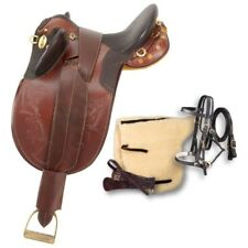 17 Inch Australian Stockpoly Saddle Pkg - Dark Oil - No Horn -Regular Tree