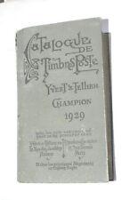 CATALOGO FRANCOBOLLI YVERT TELLIER CHAMPION  DEL 1929