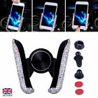 Sparkling Mobile Phone in Car Holder Stand Women Crystal Bling Rhinestone Mount