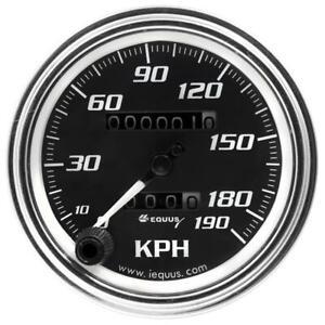 """Equus Speedometer Gauge 7079; 7000 Series 0-190 KPH 3-3/8"""" Full Sweep Mechanical"""