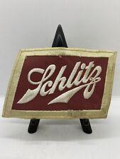 Vintage Schlitz Beer Advertising Large Embroidered Uniform Jacket Back Patch