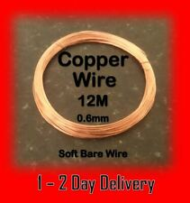 Bare Copper Wire Craft Wire 0.6mm 12 Metres Soft Modelling and Hobbyist