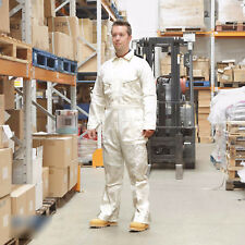 Walls 100% Cotton Work Wear Overalls Coverall Painters Boiler Suit White RRP £32