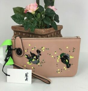 Coach Wristlet Meadowlark Bag Turnlock Embellished  Pink $175 58733 B20