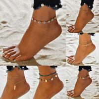 Boho Handmade Bohemia Ankle Bracelet Bead Chain Anklet Chain Foot Bracelet Set
