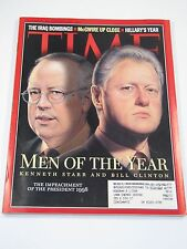 Time Magazine- Men of the Year: Kennth Starr and Bill Clinton- December 28, 1998