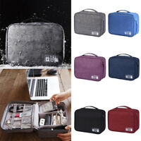 Waterproof Travel Storage Bag Electronic USB Charger Case Data Cable Organizer N