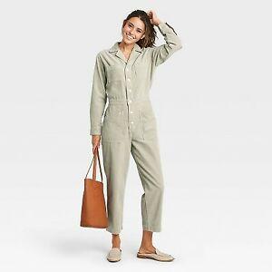 Women's Long Sleeve Collared Corduroy Boilersuit - Universal Thread G