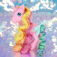 My Little Pony RARITY Pink Unicorn Heart Long Rainbow Hair G3 MLP BJ950