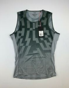 RAPHA Pro Team Base Layer Sleeveless Aero Block Gray Size Large New