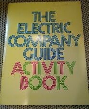 The Electric Company Guide 1974 Activity Book Children's Television Workshop