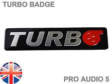 Turbo Logo Negro insignia del coche-Rally Race Car van Subaru Vw Mitsubishi Toyota Reino Unido