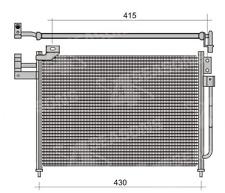Kondensator Klimakühler Kühler Klimaanlage Mazda 323 BJ 2,0 TD 1998-2003