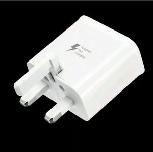 3 pin Fast  Mains Charger Plug Head plus  micro USB Cable for Samsung S5 S7 S8