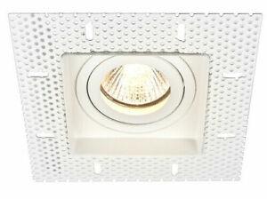 Trimless Downlight Tilt Plaster-In GU10 Adjustable Square Downlight IP20
