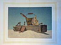 ALLEN SAALBURG Mid Century Seascape 1940s Serigraph Vintage Americana Art