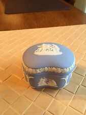 Vintage Wedgwood Jasperware Trinket/Jewelry Box with Lid