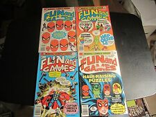 RARE SET OF MARVEL'S FUN AND GAMES #3,4,7,8 LOW PRINT RUN HARD TO FIND!!!