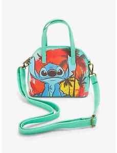 Loungefly Disney Lilo & Stitch Crossbody Mini Dome Purse Handbag Beach Scene Bag