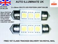 2x 36mm Car Led Smd 239 272 C5W White Number Plate Festoon Light Bulbs Lamps 12V