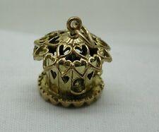 Gorgeous Heavy 9ct Gold Dove Cote Charm