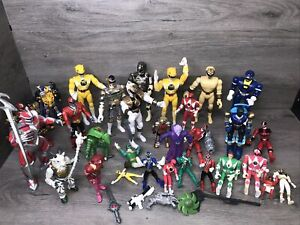 30 Vintage Mighty Morphin Power Rangers Action Figure Lot Saban Bandai 90s-2000s