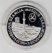14 ECU + 2 ECU Bosnia & Herzegovina moschea + Mostar ponte 1993 ARGENTO PP