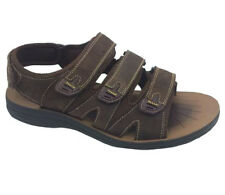 Mens Sandals ProActive Martin  Adj Leather Upper Brown Size 7-12 New